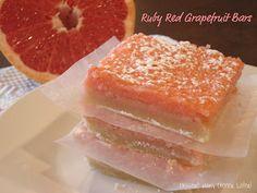 Dessert Now, Dinner Later!: Ruby Red Grapefruit Bars