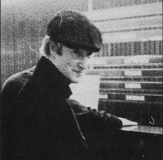 John Lennon at Hamburg Airport in 1961