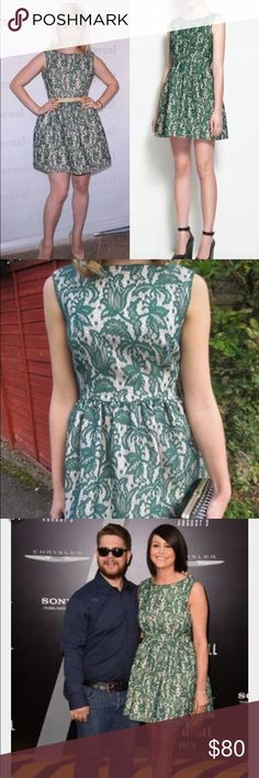 Zara green lace dress iconic rare sz m NWT Hi this high quality dress is from Zara, and it's a size m, NWT. It's got green lace all over it. Gorgeous!! Zara Dresses