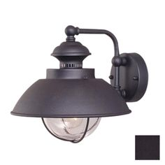 84 Lowes Cascadia Lighting Nautical 10 1/4 In H Textured Black Outdoor