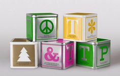 Tea-boxes inspired by children's playing blocks by @garbergsproject  @MuseumofBrands   via @tomjohn001