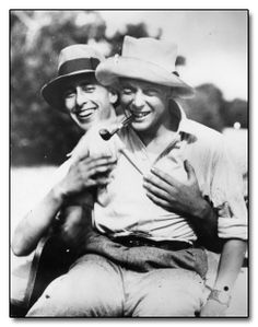 The Prince of Wales (later King Edward VIII) with his cousin Lord Mountbatten