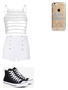 """Cute summer outfit"" by fungiral on Polyvore featuring Glamorous, Pierre Balmain, Converse and Agent 18"