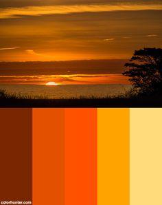 Color Scheme from Sunset Color Palette, Orange Color Palettes, Create Color Palette, Sunset Colors, Colour Pallete, Bedroom Color Schemes, Colour Schemes, Color Combos, Disney Themed Bedrooms