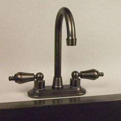 "BAR - Option 2-3 - 4"" Mackenzie Centerset Bar Faucet - Oil Rubbed Bronze, Medium or Dark Antique Copper sinks   Signature Hardware SKU: 905122 (94.95)"