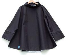 Navy waxed cotton womens fall autumn rain poncho SALE