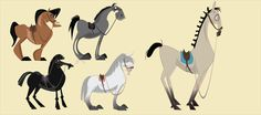 HorseCharactersPort-01.png (3750×1667) ★ Find more at http://www.pinterest.com/competing/