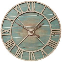 So. Big. Rustic Teal Wall Clock.