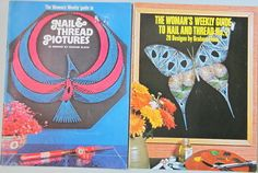 2 Vintage 1970s Nail and Thread Pictures Booklets £2.50
