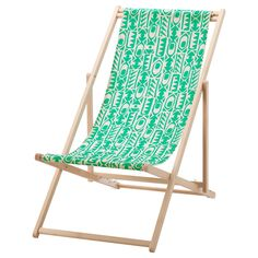 IKEA - MYSINGSÖ, Beach chair, green, , Easy to keep clean as the fabric can be removed and washed.
