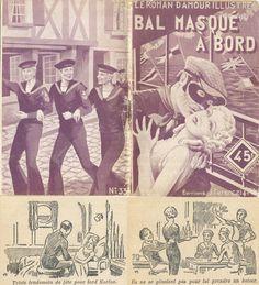 R. Houy (non signé sous réserve) - Jean Laurent, Bal masqué à bord, Ferenczi Le Roman d'Amour Illustré n°337, 32 pages, deux illustrations intérieures, 20 juillet 1938