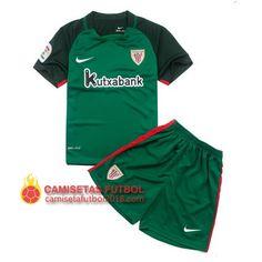 c650833ac215c Segunda Equipacion niños del Athletic Bilbao 2016 2017.  CamisetasBilbaoAthletic