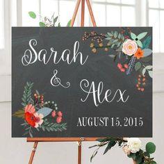 Wedding Sign, Wedding Printables, Wedding Signs Printable, Chalkboard Wedding Sign, Rustic wedding,  Custom wedding sign