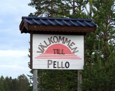 Pellon kylä Ruotsissa Tornionjoen länsipuolella
