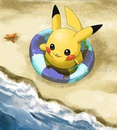 Pikachu at the beach