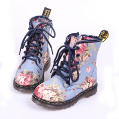 Free shipping new korean autumn & winter children high cotton boots girls flowers print casual boots kids sneakers blue 21-37 $45.82
