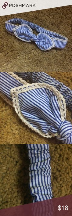 Nautical Bow Headband Hair Tye Elastic back for one size fits all. Never used! Urban Outfitters Accessories Hair Accessories