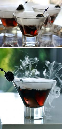Black Vodka, Chambord and Cranberry Cocktail | Click Pic for 28 Halloween Cocktail Recipes for a Crowd | DIY Halloween Party Ideas for Adults