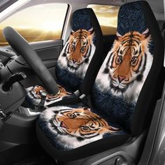 Tiger Car Seat Covers – Wear Saga Custom Car Seat Covers, Car Seat Cover Sets, Video Installation, Cover Size, Miller Sandal, Custom Cars, Tigers, Saga, Take That