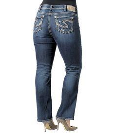 Love this Indigo Faded Curvy Suki 17'' Bootcut Jeans - Plus on #zulily! #zulilyfinds