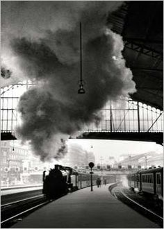 Gare Saint-Lazare, Paris, 1958 •  Édouard Boubat