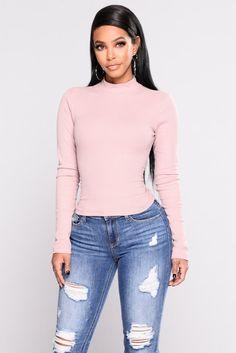 Rhea Long Sleeve Tee - Dusty Pink