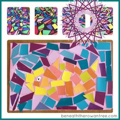 Who doesnt love a craft that is simple, relatively tidy and takes a while to complete?!  These fun little mosaic pictures fit the bill!   I...