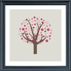 4 cruz puntada árbol patrones 4 temporadas patrón por Happinesst