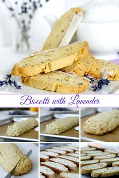 Biscotti is a twice-baked cookie that is a crunchy & perfect for dipping in milk, coffee or tea. Easy Biscotti with Lavender is extra pretty and special. Lavender Recipes, Lemon Recipes, Baking Recipes, Cookie Recipes, Lemon Biscotti, Biscotti Recipe, Italian Desserts, Just Desserts, Italian Cookies