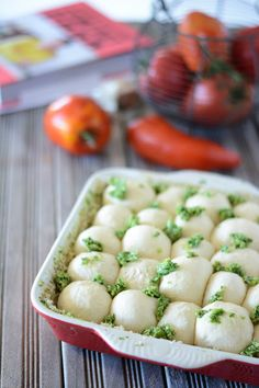 Garlic bread that tears How to make small bread balls Veggie Recipes, Healthy Dinner Recipes, Vegetarian Recipes, Appetizer Recipes, Pizza Recipes, Bread Recipes, Baguette, Masterchef, Wie Macht Man