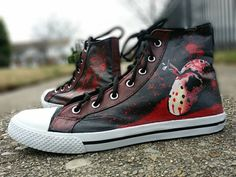 35 Best Horror Hand Painted Shoe Ideas images | Painted