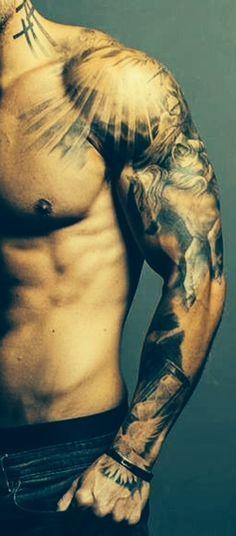 ideas tattoo sleeve men arm tatoo for 2019 Best Sleeve Tattoos, Hot Tattoos, Tattoo Sleeve Designs, Trendy Tattoos, Body Art Tattoos, Tribal Tattoos, Tatoos, Cross Tattoos, Maori Tattoos