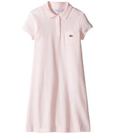 Lacoste Kids Classic Pique Dress with Pocket (Toddler/Little Kids/Big Kids) (Flamingo) Girl's Dress