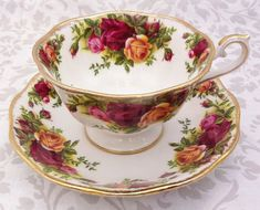Old Country Roses Tea Set Royal Albert by LavenderRoseCottage,: