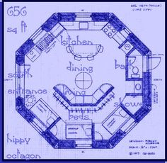 Straw Bale House Plan (612 Sq. Ft.), ROUND little but perfect for retirement by a creek in the mountains...