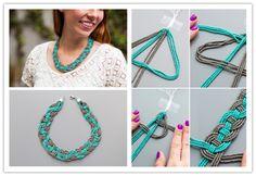 DIY Woven Bead Statement Necklace Tutorial | DIY Tag