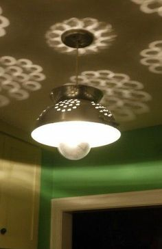 Kitchen Colander Lamp // #diy #inspiration
