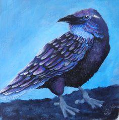 small study the purple raven Small Study, Raven, Creatures, Bird, Purple, Animals, Beautiful, Black, Animales