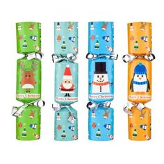 These cute mini crackers are Ideal for the Christmas dinner table or even tree decorations! Pack of 8 with fun character designs, contains 1 hat and 1 joke per cracker. Christmas Crackers, Dinner Table, Tree Decorations, Character Design, Packing, Xmas, Mini, Tableware, Christmas Biscuits