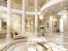 Интерьер роскошной гостиной в особняке. Фото 2016 - Дизайн дома