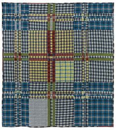 Tartan Series: West Point quilt by Lori Mason.  Inspired by a traditional West Point Tartan pattern and made from reclaimed plaid clothing.