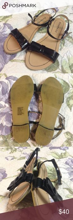Rampage cute bow sandals Rampage cute bow sandals. Only lightly worn, in almost new condition. Rampage Shoes Sandals