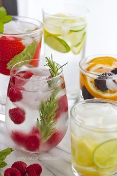 25 Kinds of Flavored Water {Detox Water} I have to say that I think ALL water is detox water...