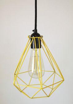 Diamond Cage Pendant with bakelite lampholder by SparkandBell