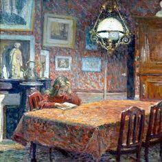 Henri Lebasque, Sous la lampe, 1904 - Google Search