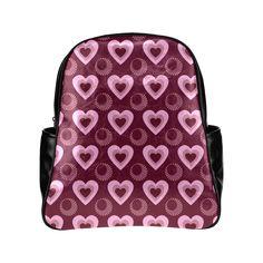 Heart Throb Multi-Pockets Backpack (Model 1636)