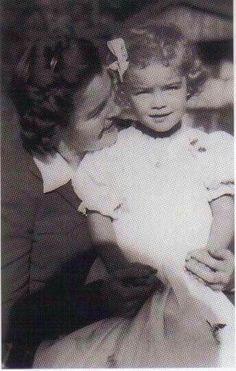 1943, Schonau - Magda Schneider & Romy Schneider