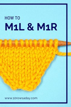 """When a pattern tells us to """"make 1 stitch"""", it means that we should use the most common way to increase stitches – make a new stitch from the strand between stitches. This increase is so common… Beginners Knitting Kit, Easy Knitting Projects, Knitting Kits, Loom Knitting, Knitting Stitches, Knitting Designs, Knitting Patterns, Make One Knitting, Beginner Knitting"""