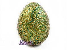Пасхальный сувенир -Точечная роспись - Растительные узоры | Ярмарка Мастеров - ручная работа, handmade