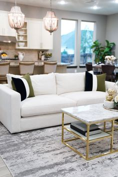 So choose the right sofa for your room - Marble Living Room Seating, Rugs In Living Room, Living Room Decor, Modern Grey Sofa, Living Room Modern, Home Sofa, White Couches, Grey Sofas, Grey Furniture